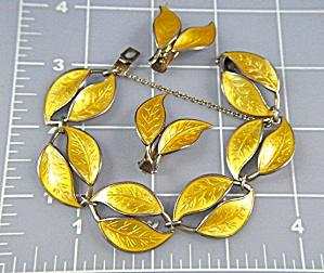 Bracelet Earrings DAVID ANDERSEN Gold Vermeil Enamel  (Image1)