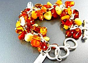 Charles Albert Amber Sterling Silver Toggle Clasp
