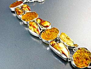 Gold Biwa Pearls Druzy Sterling Silver Bracelet (Image1)