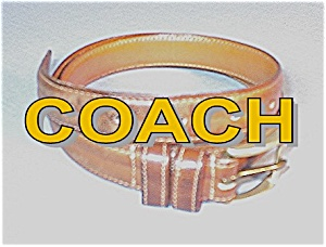 COACH Leather Belt Mans Light Tan 32 Inch (Image1)