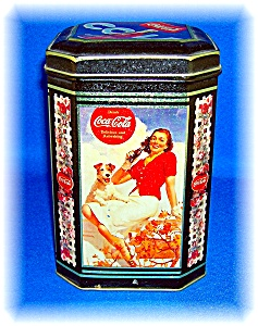 COCA COLA COLLECTABLE TIN KITCHEN CANISTER (Image1)
