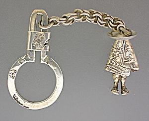 Taxco Mexico FAR FAN Sterling Silver Eagle 13 Key Chain (Image1)