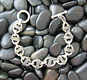 Sterling Silver Bracelet Toggle Clasp 8 1/2 Inch (Image1)
