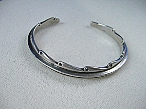 Native American Sterling Silver Cuff Bracelet (Image1)