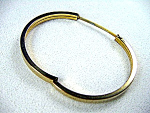 12K GF Hinged  Bangle Bracelet 'Maratho' (Image1)