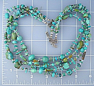 PAIGE WALLACE Turquoise Crystal Sterling Silver Necklac (Image1)