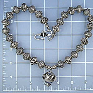 Necklace Sterling Silver Beads  BALI 134 Grams (Image1)