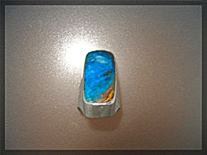 Peruvian Blue Opal Sterling Silver Ring By Starborn (Image1)