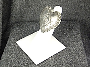 Native American Sterling Silver Heart Vincent Platero