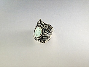 Ring Sterling Silver Dry Creek Turquoise D. Gordon (Image1)