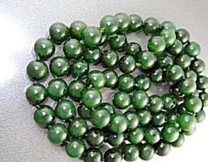 Jade Necklace 10.2mm 34 Inches