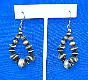 Navajo Sterling Silver Shepherd Hook Earrings