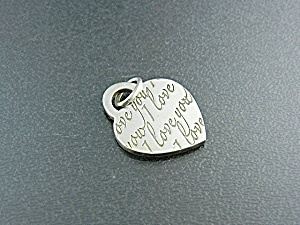 Tiffany & Co Sterling Silver I Love You Heart Charm (Image1)