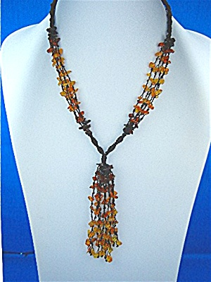 Baltic Amber Necklace 10 Strand Tassle