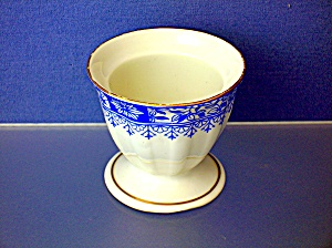 Egg Cup With Blue Design And Gold Rim.....