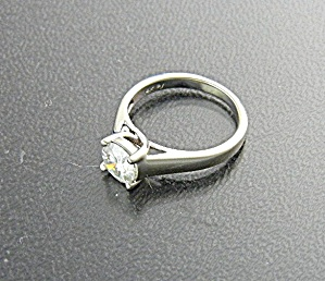 Ring 14k White Gold 1ct Moissanite Diamond Ring
