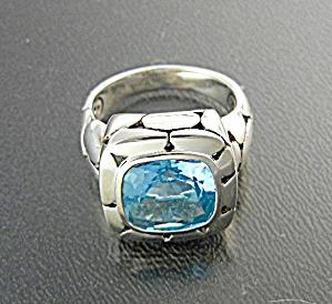 Ring JOHN HARDY Sterling Silver Blue Topaz Kali (Image1)