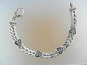 Bracelet Sterling Silver Hearts DeGruchy Designer (Image1)