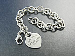 Bracelet TIFFANY Sterling Silver Heart Charm (Image1)