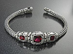 Bracelet JOHN HARDY Sterling Silver Pink Topaz (Image1)