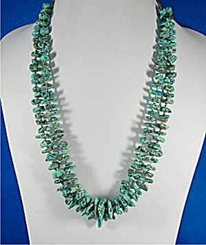 Necklace Turquoise Heishi 2 Strand Santo Domingo USA (Image1)