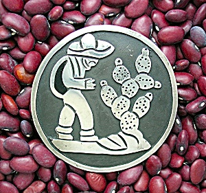Taxco Mexico PERLITA Sterling Silver Large brooch Pin (Image1)