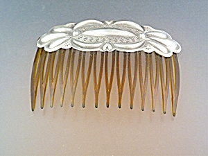 Hair Comb Sterling Silver With Hearts (Image1)