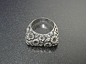 Ring Dian Malouf Sterling Silver Stacking Daisy