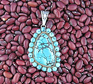 Sterling Silver Turquoise Patrick Yazzie Pendant