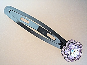 Hair Clips Shades of Purple Crystals and Metal Korea X  (Image1)