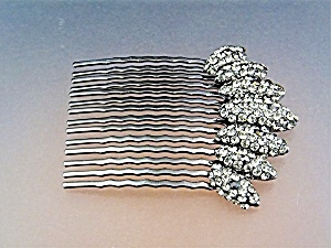 Hair Comb Shades of Grey Crystals  and Metal (Image1)