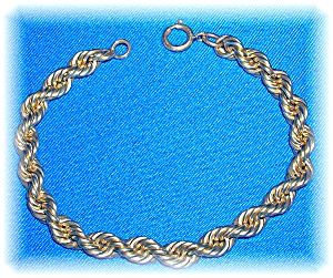 12K Gold Fill Rope Bracelet 7 1/2 inches (Image1)