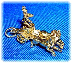 Silver 800 Gold Wash Ben Hur Chariot Charm (Image1)