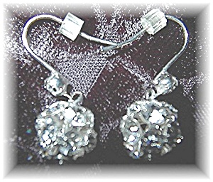 Sterling Silver & Crystal Dangly Earrings