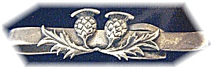 Vintage Sterling Silver Thistle Tie Clip (Image1)