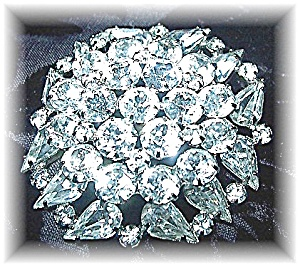 WEISS Sparkling  Crystal Rhodium SilvertonSquare Brooch (Image1)