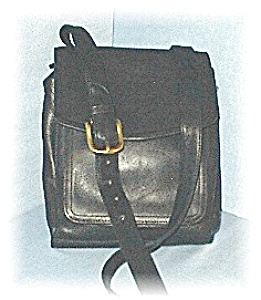 Black Leather Over The Shoulder FOSSIL Bag (Image1)