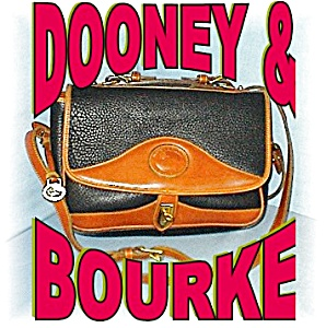 Dooney & Bourke Black /Tan  Leather Bag (Image1)