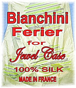 Shades Of Lime 100% Silk Bianchini Ferier Par (Image1)