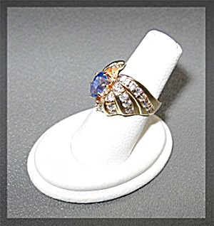 Ring 14K Gold Tanzanite & Diamond  (Image1)
