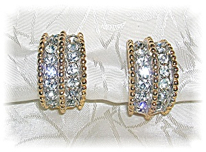 Fabulous Bling Rhinestone Clip Earrings