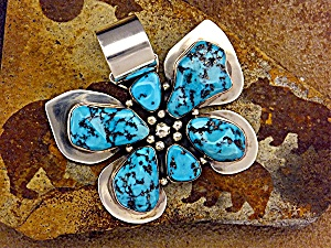 Pendant Sterling Silver Turquoise RAY BENNETT (Image1)