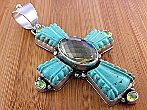 David Troutman & Gundi Sterling Silver Turquoise Citrin (Image1)