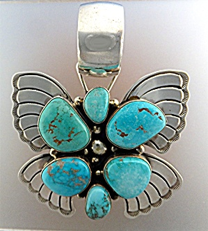 Carico lake Turquoise D. Livingston Sterling Silver USA (Image1)