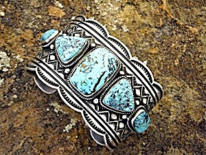 ANDY CADMAN Sterling Silver Turquoise Bracelet (Image1)