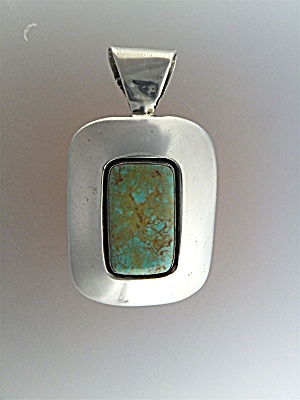Pendant Sterling Silver Turquoise Mary Rita Padilla