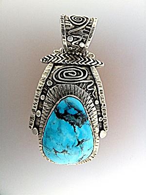 David Troutman & Gundi Turquoise Sterling Silver  Penda (Image1)