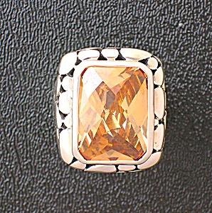 Citrine Sterling Silver Designer Ring (Image1)