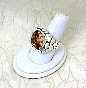Citrine and Sterling Silver Designer Ring (Image1)