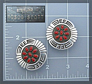 Earrings ROSCO SCOTT Sterling Silver Coral Clip  (Image1)